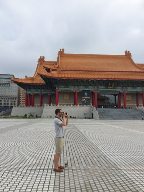 Getting a shot before the tourists come