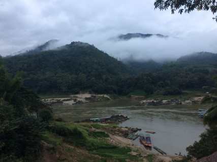 View from Pak Beng looking towards the Mekong